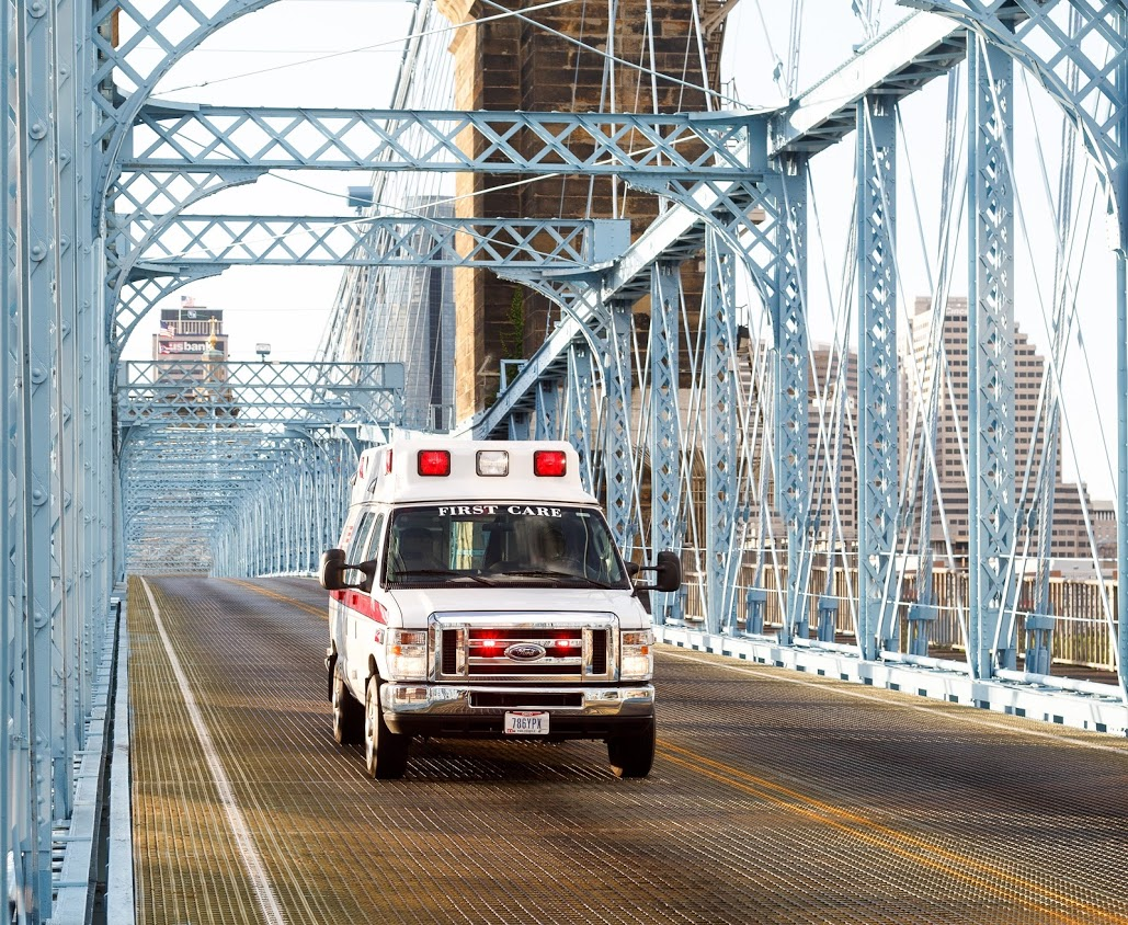 image of truck on bridge